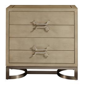 White Shagreen 4 Drawer Chest